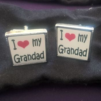 I love my Grandad cufflinks