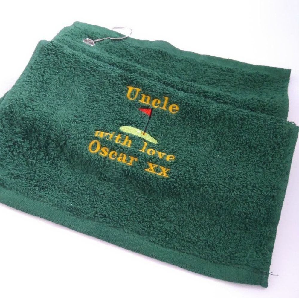 Golf Towel - Different Colours and Options available