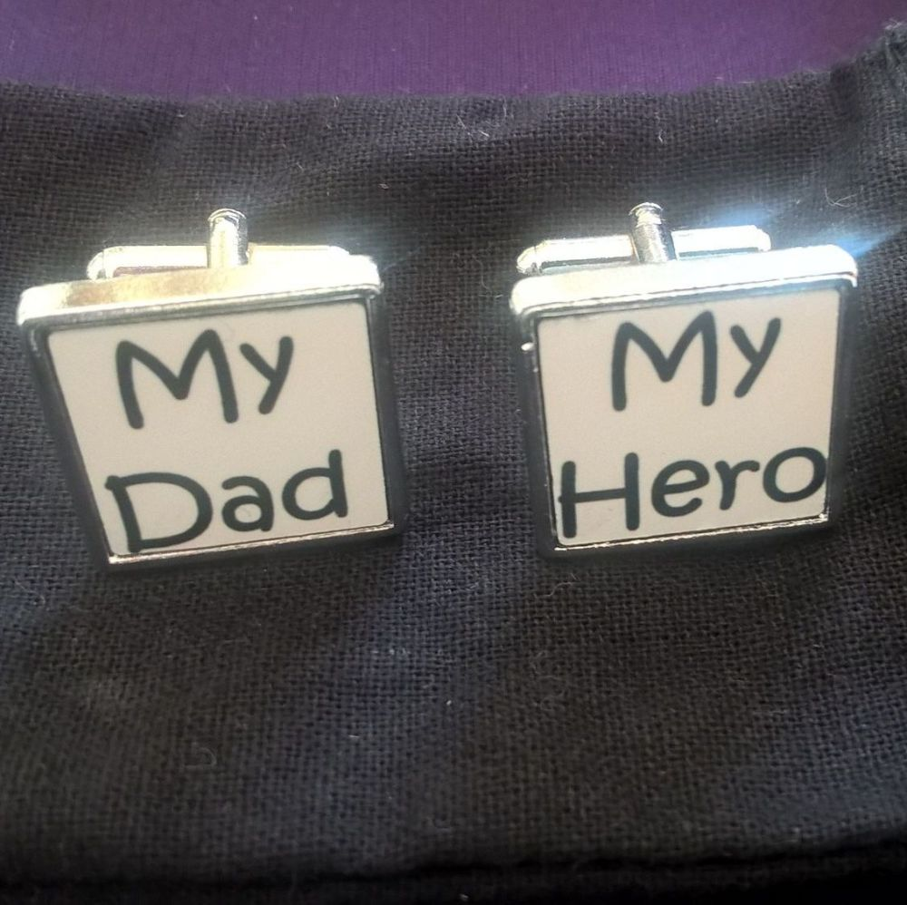 My Dad, My Hero Cufflinks