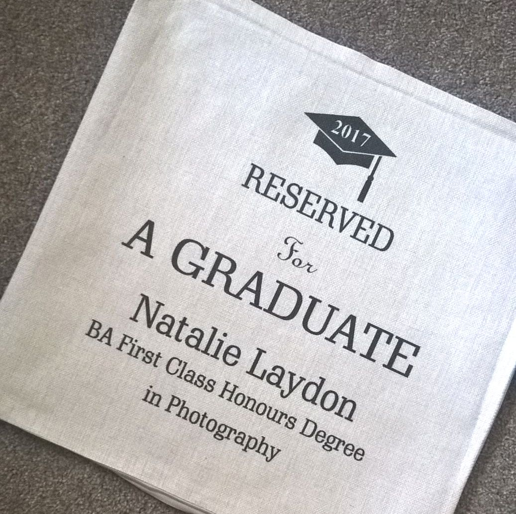 Reserved for A Graduate Personalised Linen Cushion