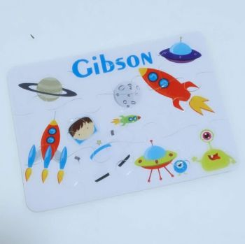 Personalised Space themed jigsaw - 12 or 63 pieces