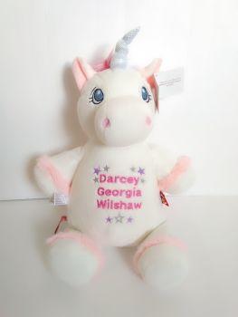 Cubbies Personalised White unicorn
