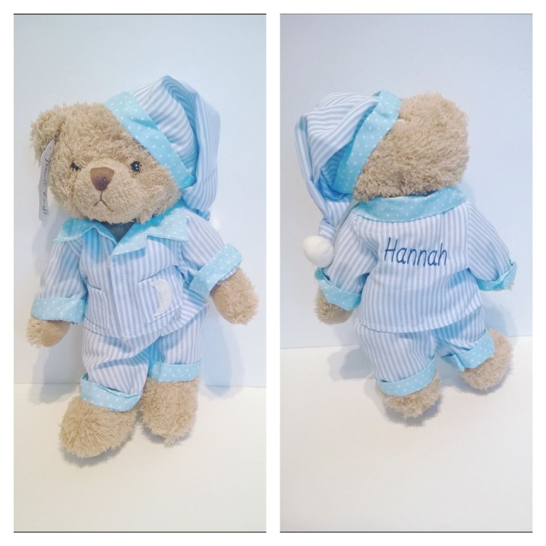 Blue Stripe Pyjamas Teddy Bear