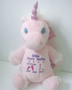 Cubbies Personalised Pink Unicorn