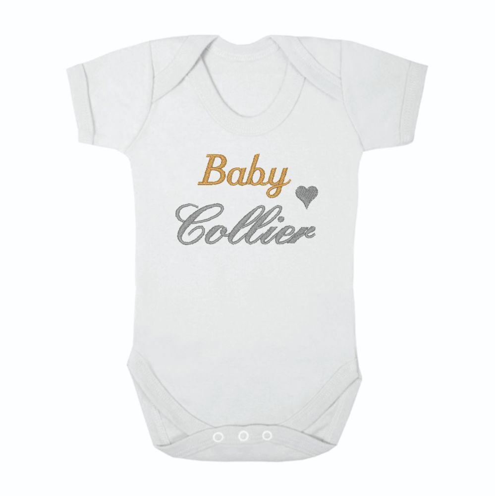 Personalised Baby Surname Unisex Baby Grow Bodysuit | Personalised Baby Ves