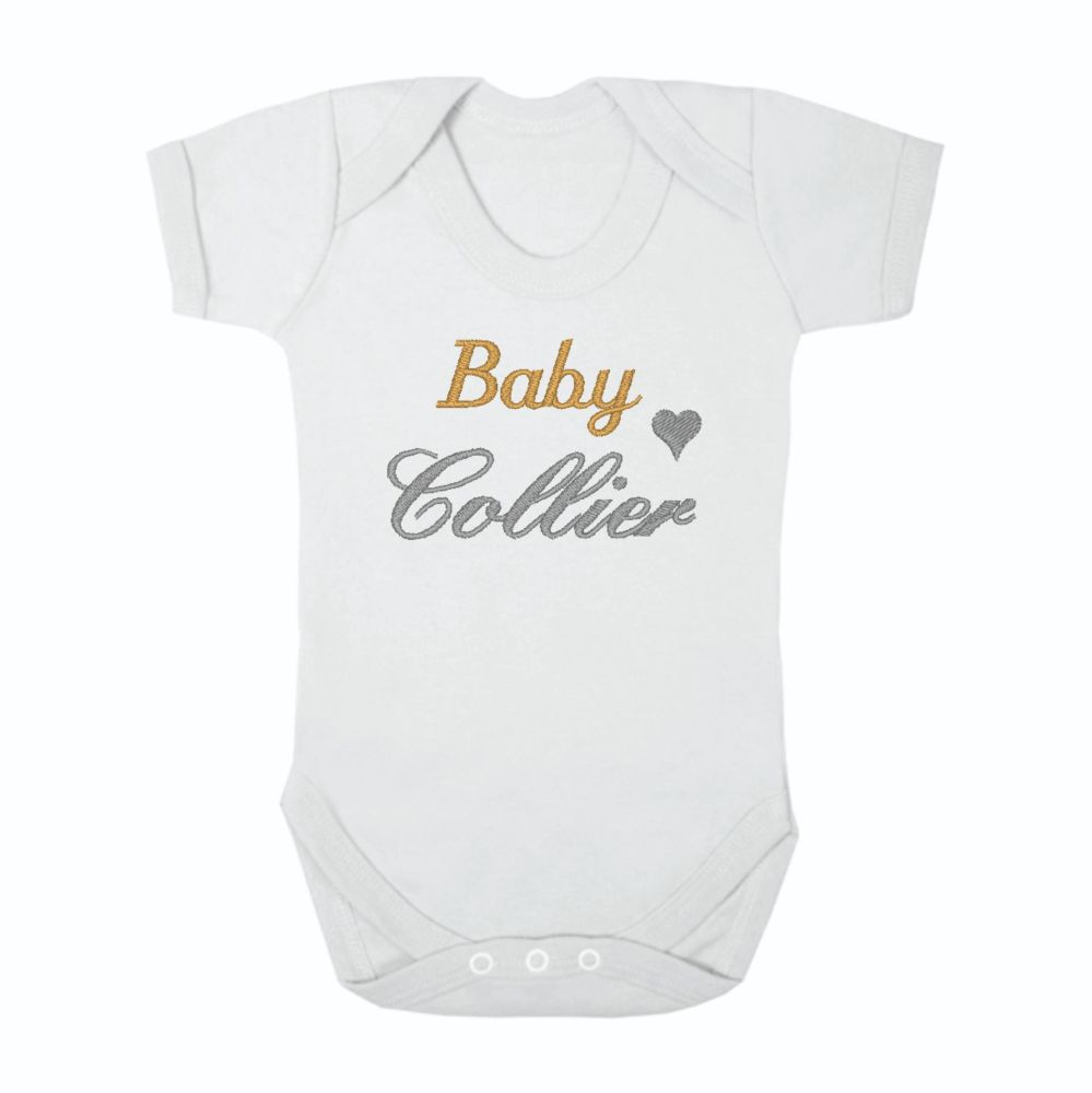 Personalised Baby Surname Unisex Baby Grow Bodysuit
