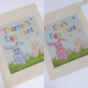 Personalised Easter Egg Hunt Drawstring Bag