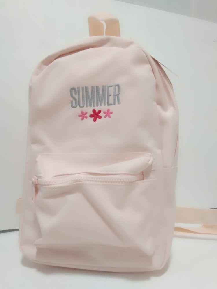 Pink Mini Fashion Backpack | Personalised Girls Backpack