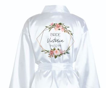 Personalised Geometric Wreath Bridal Robes