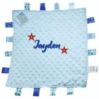 Personalised Blue Dimple Comforter with Tags
