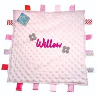 Personalised Pink Dimple Comforter with Tags