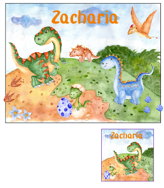 Personalised Dinosuar Place mat and Coaster set