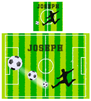 Personalised Football Place mat and Coaster set