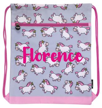 Personalised Chubby Unicorn Drawstring Bag