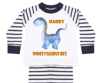 Blue Personalised Dinosaur Pyjamas