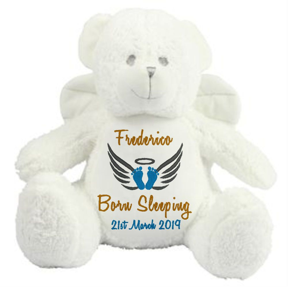 Personalised Angel Bear Teddy Soft Toy