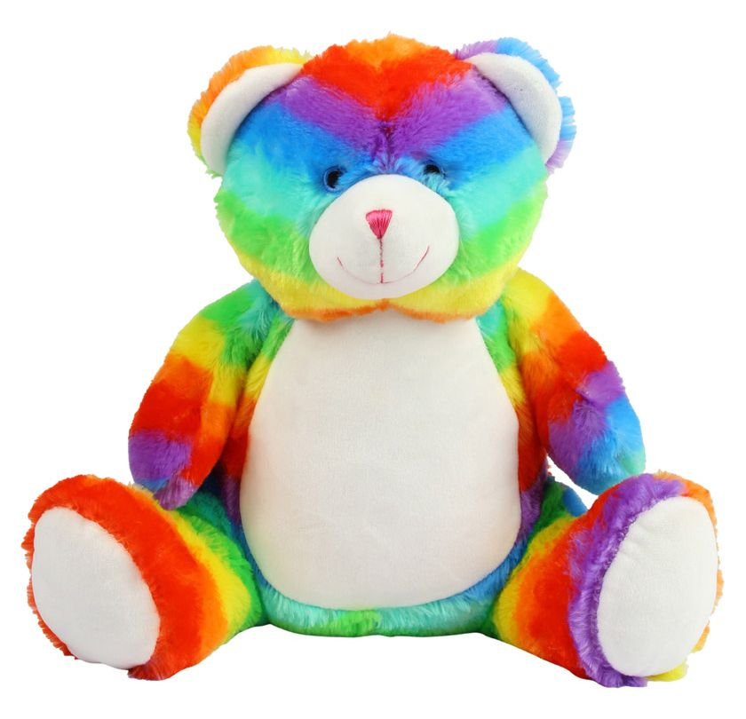 Personalised Rainbow Bear Teddy Soft Toy