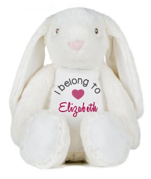 I belong to Bunny Soft Toy