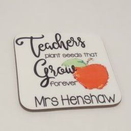 Personalised Teacher Gift printed coaster