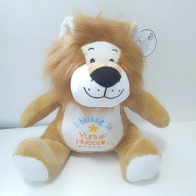 Personalised Lion Teddy Soft Toy