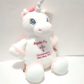 Christening White Cubbies Unicorn