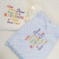 Rainbow of Hope Baby Bubble Blanket