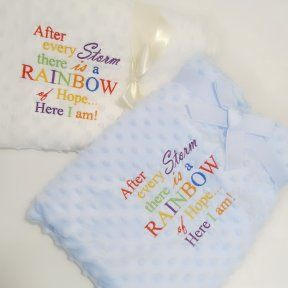 Rainbow of Hope Baby Bubble Blanket | Rainbow Baby Blanket
