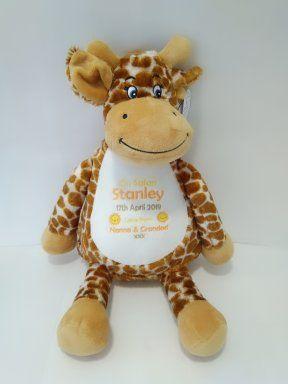 Personalised Giraffe Teddy Soft Toy