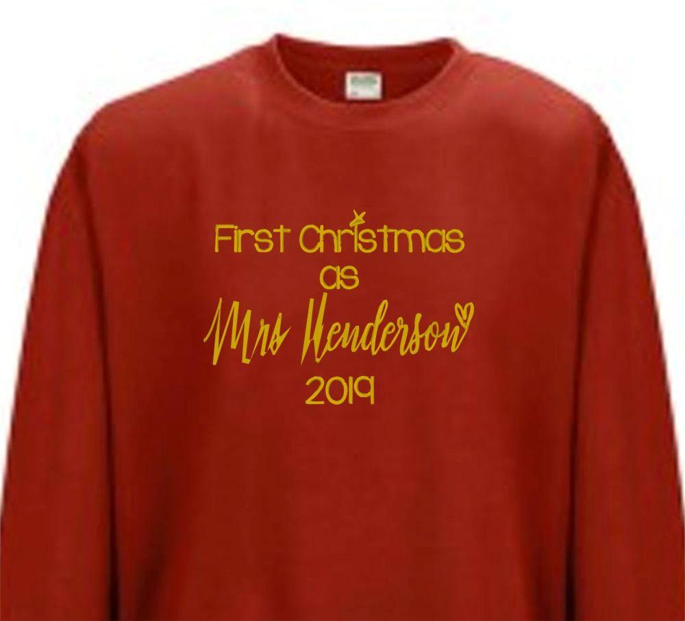 First Christmas as a Mrs jumper
