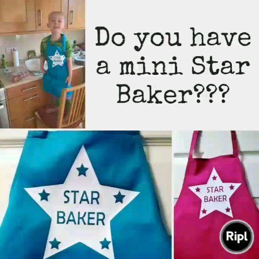 Children's Star Baker Apron | Kids Baking Apron