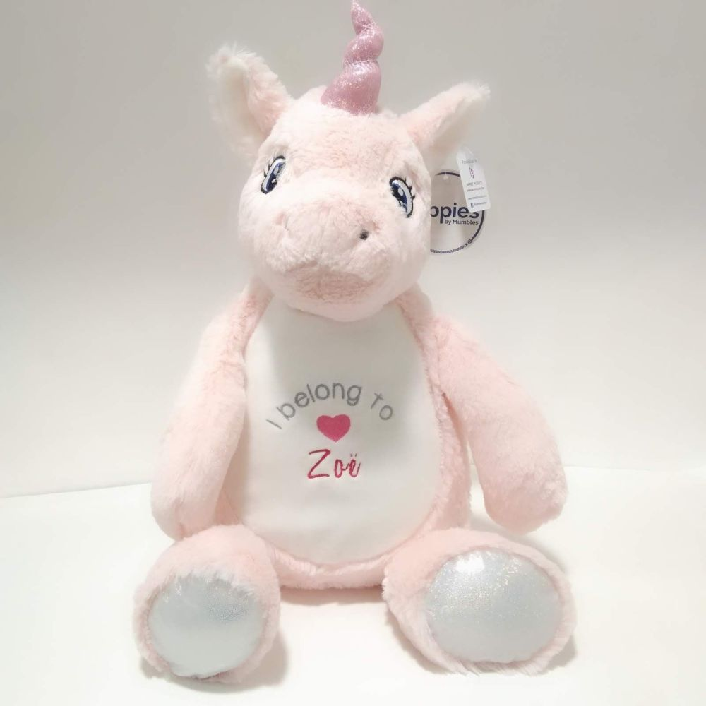 I belong to Unicorn Soft Toy