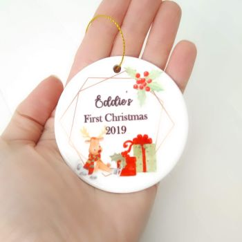 Babies First Christmas Tree Decoration Bauble