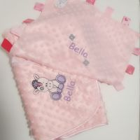 Personalised Unicorn Baby Bubble Blanket and Comforter Set