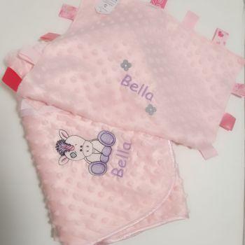 Personalised Unicorn Baby Bubble Blanket and Comforter Set