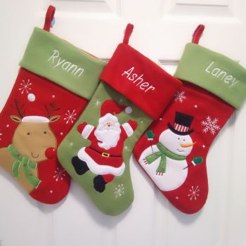Luxury Personalised Christmas Stocking - 6 designs to choose from