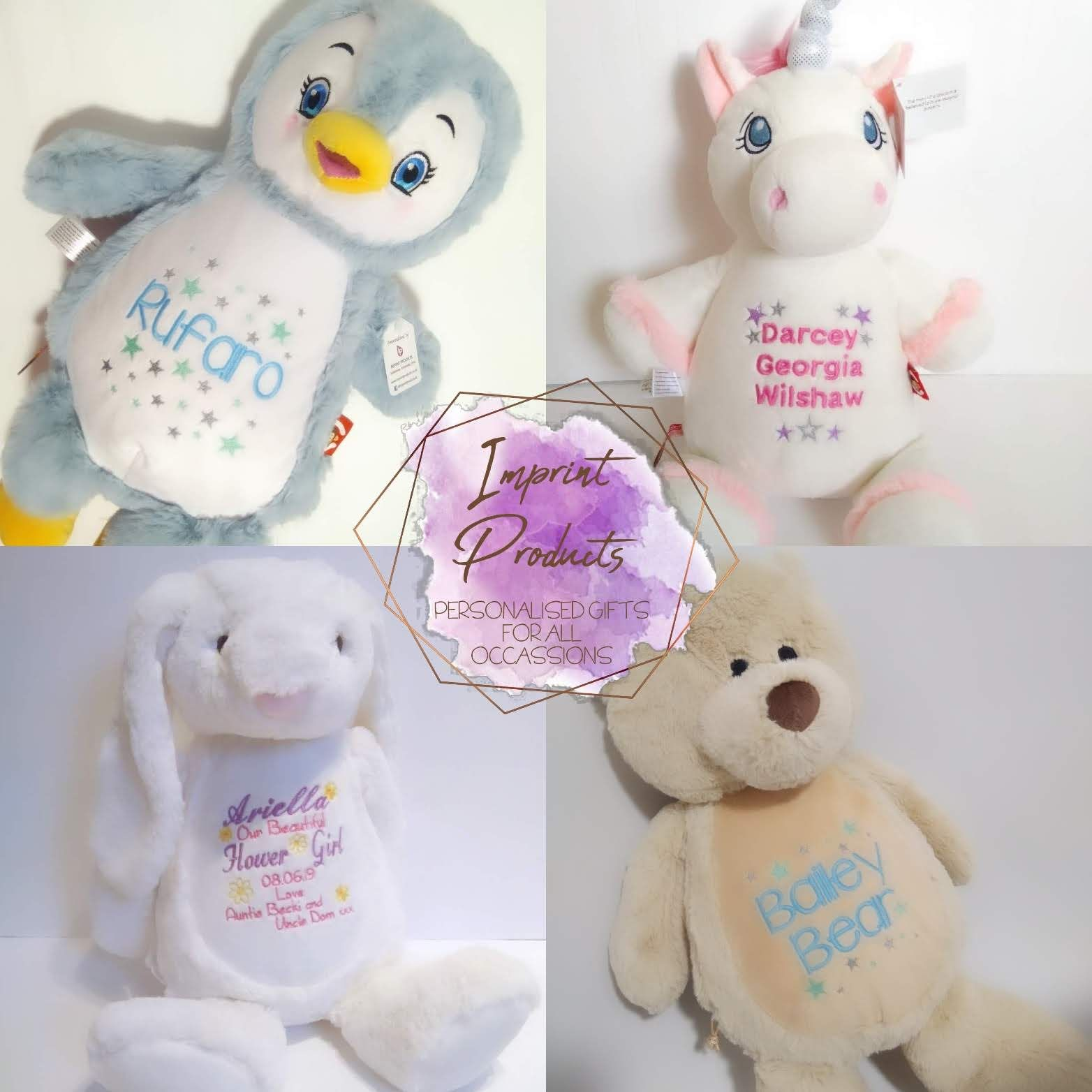 Personalised Teddy Bears great new baby gift ideas Cubbies soft toys