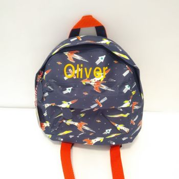 Personalised Child's Mini Space Age Backpack