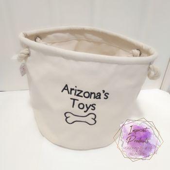 Dog Toy Storage Basket