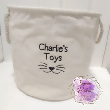 Cat Toy Storage Basket