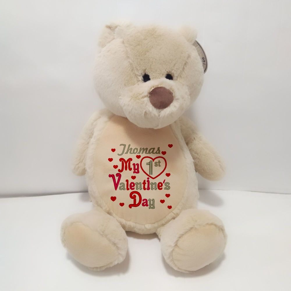 1st Valentine's Day Teddy Soft Toy