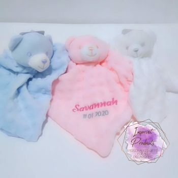 Personalised Bear Baby Comforter