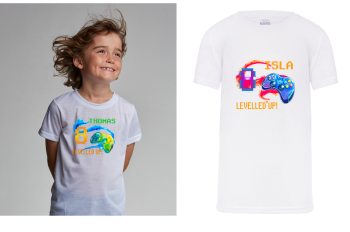 Levelled Up! Gaming Birthday T-Shirt