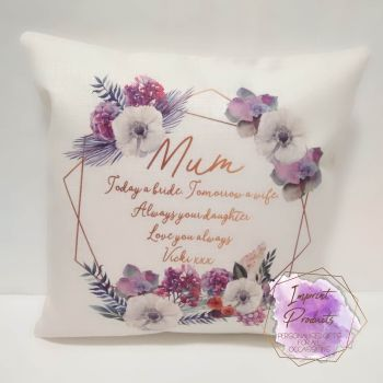 Mother of the Bride Personalised Cushion