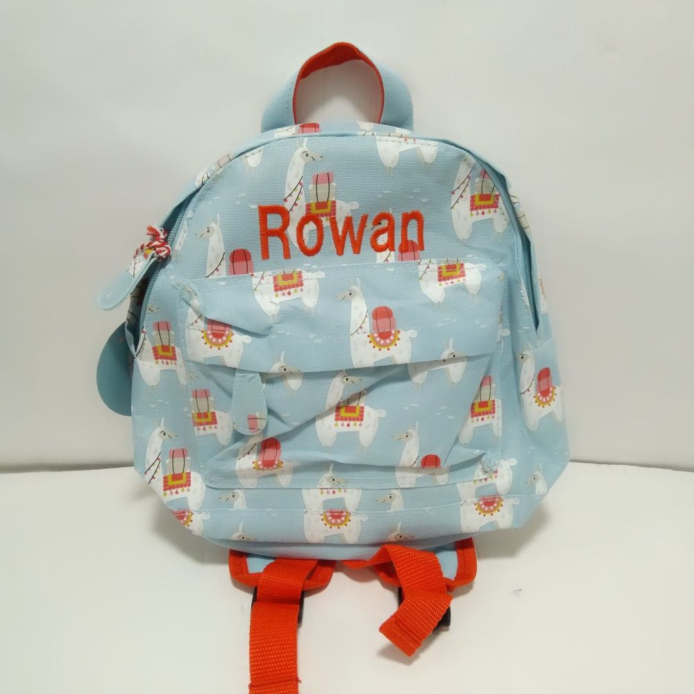 Personalised Child's Toddler Mini Llama themed Backpack | Toddler Backpack