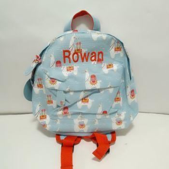 Personalised Child's Mini Llama themed Backpack