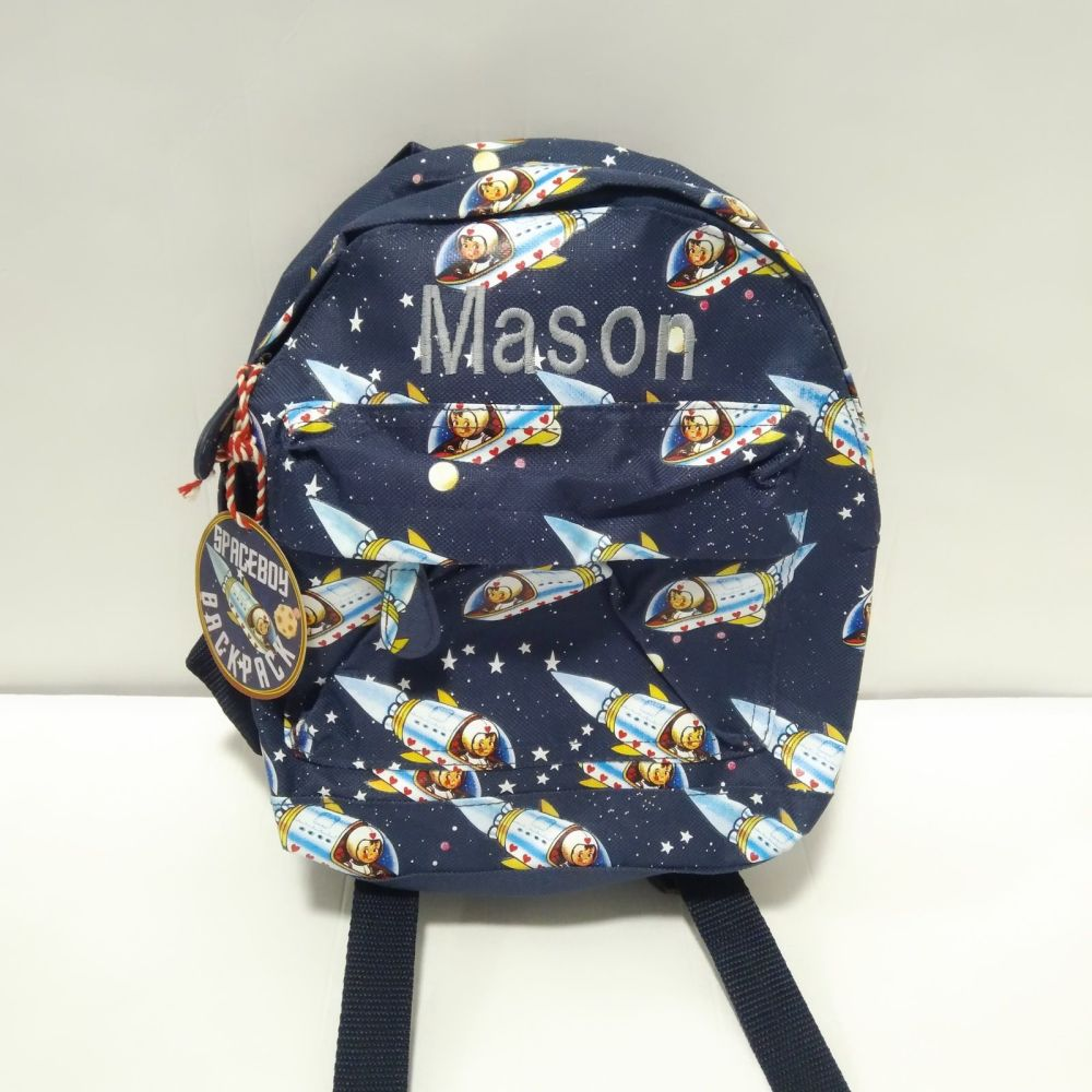 Personalised Child's Mini Space themed Backpack