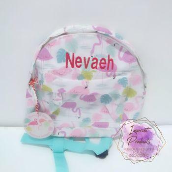 Personalised Child's Mini Flamingo Backpack