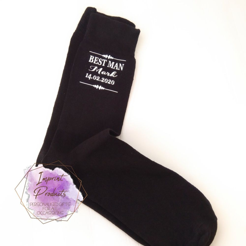 Personalised Wedding Socks | Groomsmen Socks