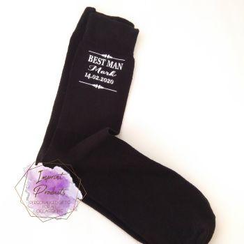Personalised Wedding Socks | Groomsmen Socks