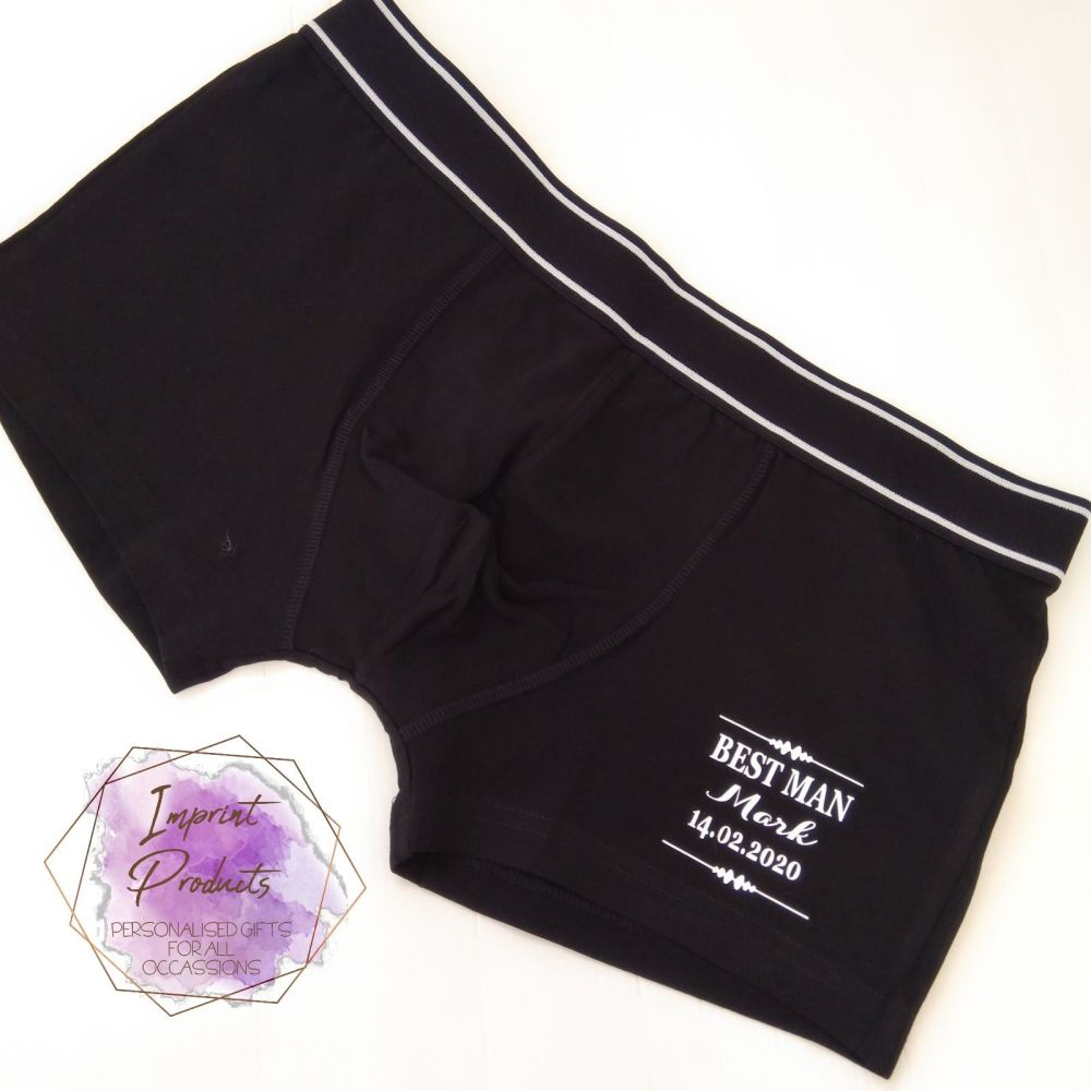 Personalised Wedding Boxers